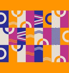 Bauhaus design seamless pattern geometric vector