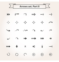 Big set arrows vector image