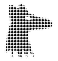 Black dot fox head icon vector