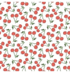 Cherry pattern vector image