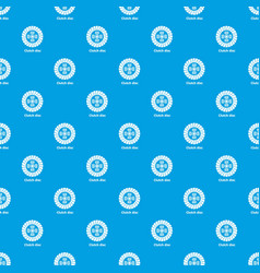 clutch disc pattern seamless blue vector image
