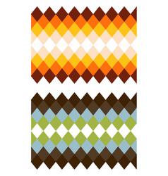 color rhomb texture vector image
