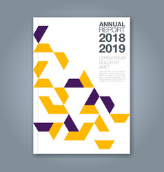cover annual report 1175 vector image