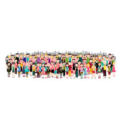 Crowd of people - men and women audience isolated vector