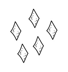 cute diamonds colors decoratives vector image