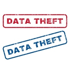 Data Theft Rubber Stamps vector