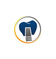 dental implant center vector image