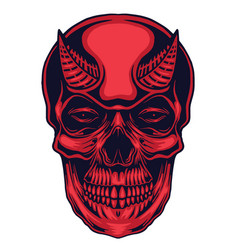 Devil skull head vector
