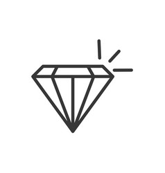 diamond treasure money icon thick line vector image
