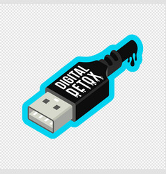 digital detox sticker design vector image