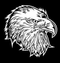 Eagle head america logo mascot on black background vector