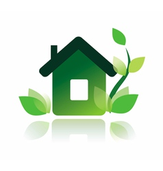 Eco home icon isolated symbol vector