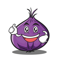 Enthusiastic red onion character cartoon vector