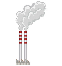 Factory chimneys with smoke coming out vector