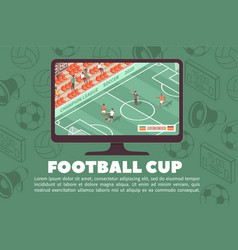 football cup stadium banner vector image
