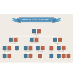 Genealogical tree of your family with bezels vector