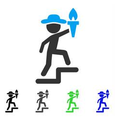 Gentleman leader flat icon vector