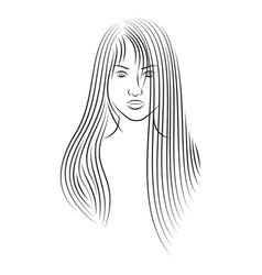 girl 5 vector image