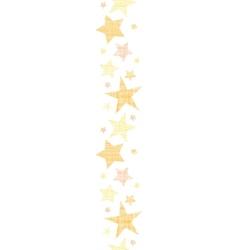 Golden stars textile textured vertical seamless vector