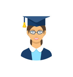 Graduate student icon pictogram flat vector