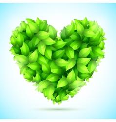 Green Leaves Heart vector image