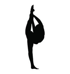 Gymnastics girl silhouette vector image