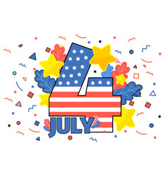 happy 4th july concept independence day of vector image