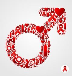 HIV male symbol vector image