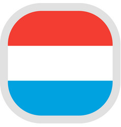 icon square shape with flag on white background vector image