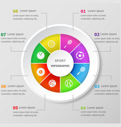 infographic design template with sport icons vector image