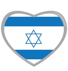Isolated Israelite flag vector image