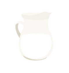 jug milk isolated on white background vector image