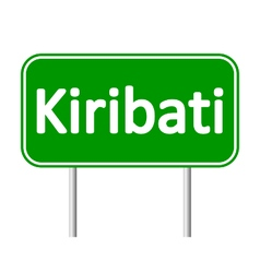 Kiribati road sign vector image