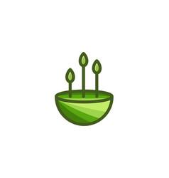 landscape tree minimalist logo design inspiration vector image