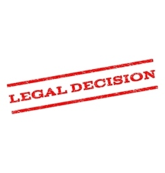 Legal decision watermark stamp vector