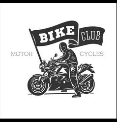 Logo motorcycle vintage vector