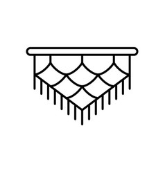 Macrame linear icon art knotting cord or vector