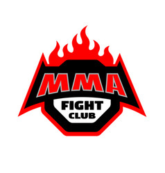 mma fight club logo vector image