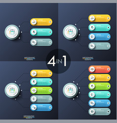 modern infographic design templates vector image