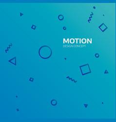 Motion graphics design concept element geometric vector