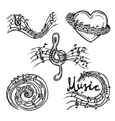 Music Abstract Set vector