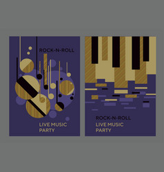 music poster template with abstract concept vector image