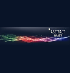 Music waves abstract sound background vector