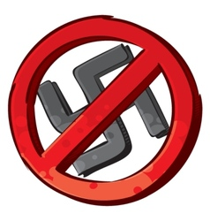 No nazi symbol vector image