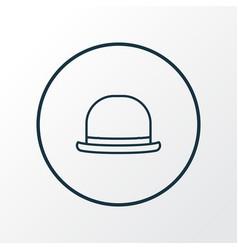 panama icon line symbol premium quality isolated vector image