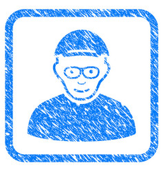 Pensioner framed stamp vector
