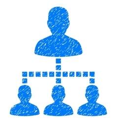 People Hierarchy Grainy Texture Icon vector