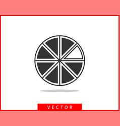 pie chart icon circle diagram charts graphs logo vector image