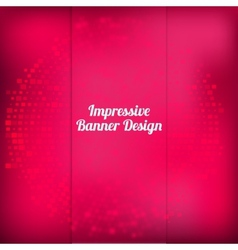 Pink banner design with halftone effect vector