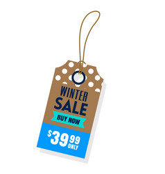 Price tag winter sale buy now 3999 only i vector